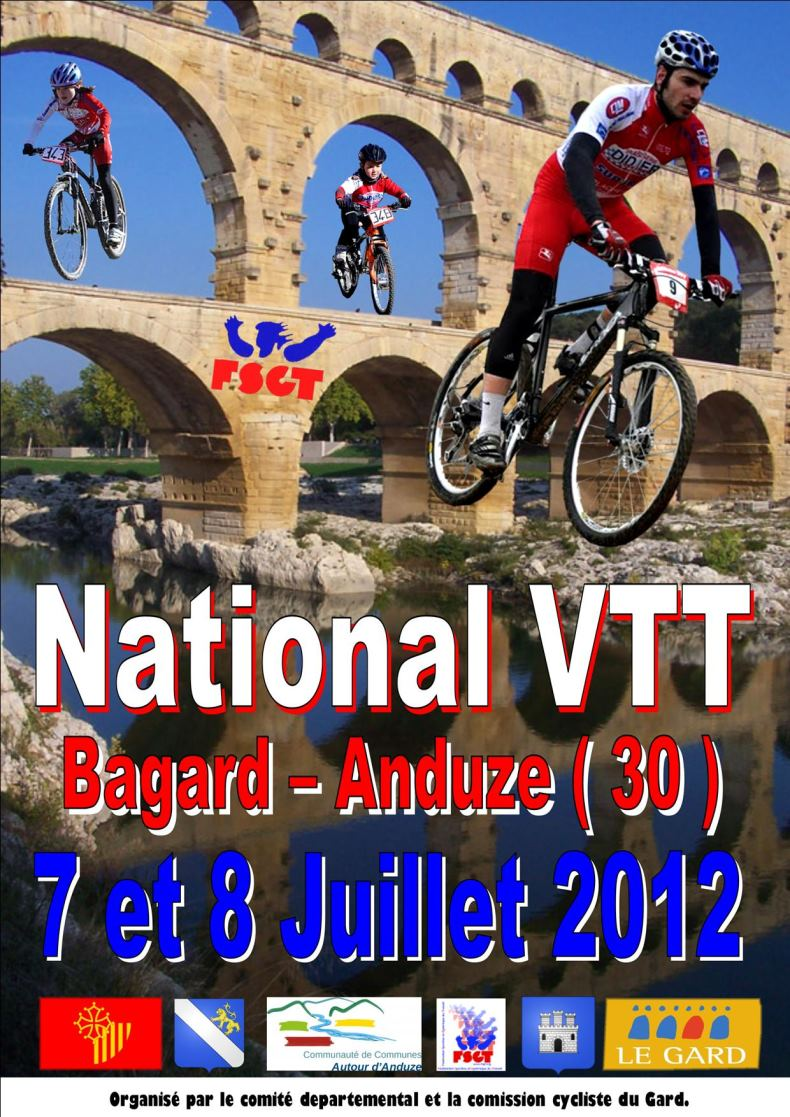 National VTT FSGT à Anduze le 7 et 8 juillet 2012 affiche